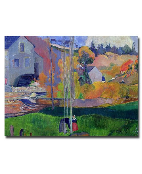 "Trademark Global Paul Gauguin 'Brittany Landscape - David Mill 1894' Canvas Art - 24"" x 18"""