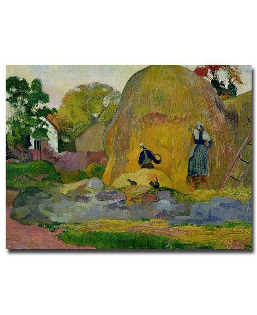 "Trademark Global Paul Gauguin 'Golden Harvest, 1889' Canvas Art - 24"" x 18"""