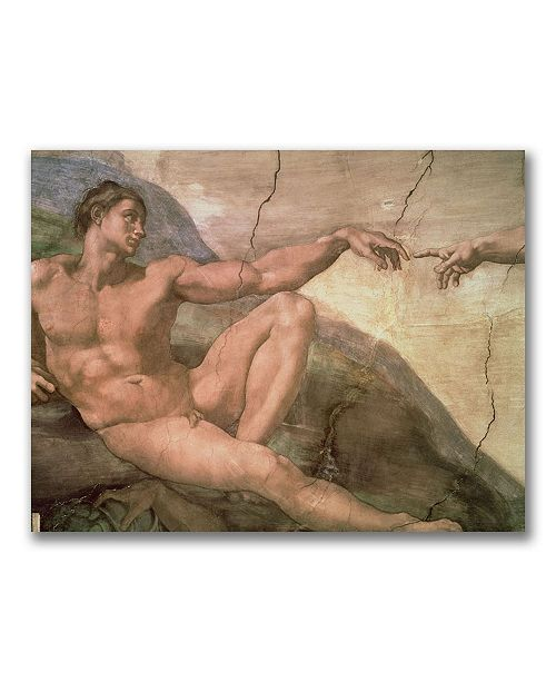"Trademark Global Michelangelo 'The Creation of Adam' Canvas Art - 32"" x 24"""