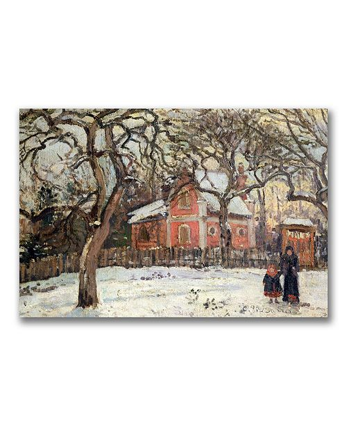 "Trademark Global Camille Pissarro 'Chestnut Trees at Louveciennes' Canvas Art - 47"" x 30"""