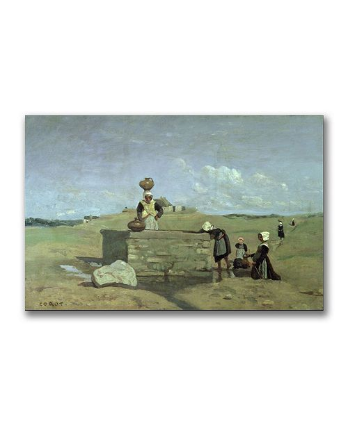 "Trademark Global Jean Baptiste Corot 'Brenton Woman at the Well' Canvas Art - 47"" x 30"""