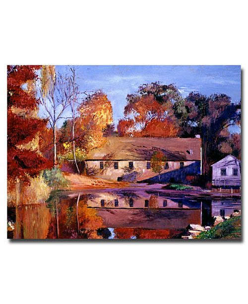 "Trademark Global David Lloyd Glover 'Reflections of a Millhouse' Canvas Art - 24"" x 18"""