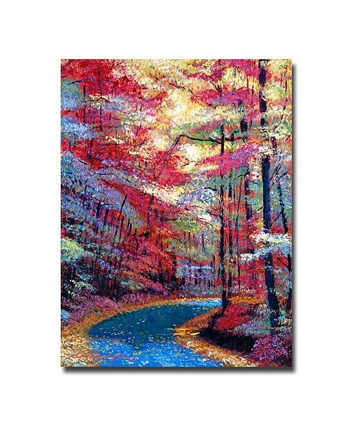 "Trademark Global David Lloyd Glover 'September Impressions' Canvas Art - 32"" x 24"""