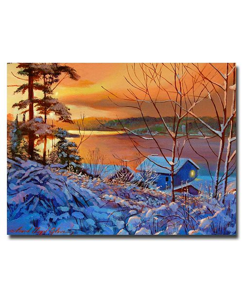 "Trademark Global David Lloyd Glover 'Winter Day Begins' Canvas Art - 32"" x 24"""