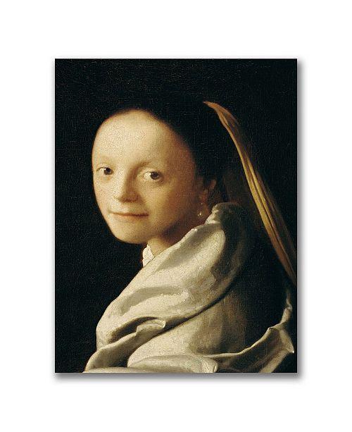 "Trademark Global Jan Vermeer 'Portrait of a Young Woman' Canvas Art - 47"" x 35"""