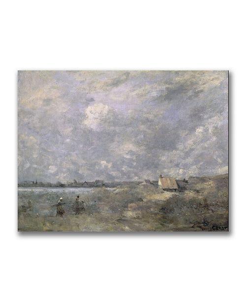 "Trademark Global Jean Baptiste Corot 'Stormy Weather' Canvas Art - 32"" x 24"""