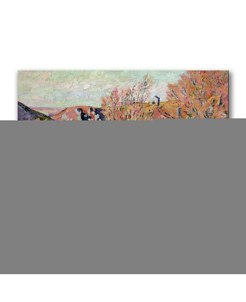 "Trademark Global Jean Baptiste Guillaumin 'The Valley of the Sedelle' Canvas Art - 24"" x 18"""