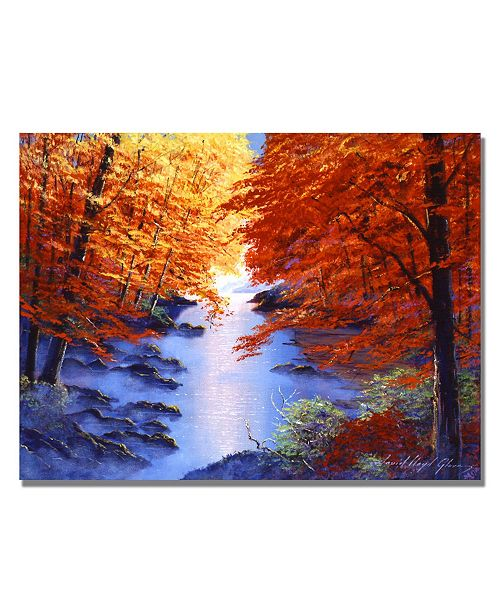 "Trademark Global David Lloyd Glover 'Misty Blue Morning' Canvas Art - 24"" x 18"""