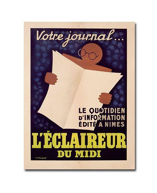 "Trademark Global JM Bompard 'L'Eclaireur du Midi 1939' Canvas Art - 32"" x 24"""