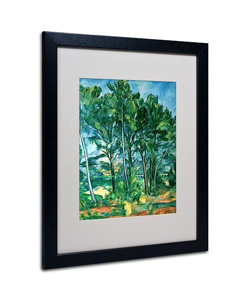 "Trademark Global Paul Cezanne 'The Aqueduct' Matted Framed Art - 20"" x 16"""