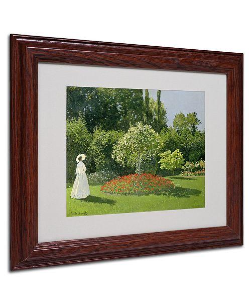 "Trademark Global Claude Monet 'Jeanne Marie Lecadre in the Garden' Framed Art - 14"" x 11"""