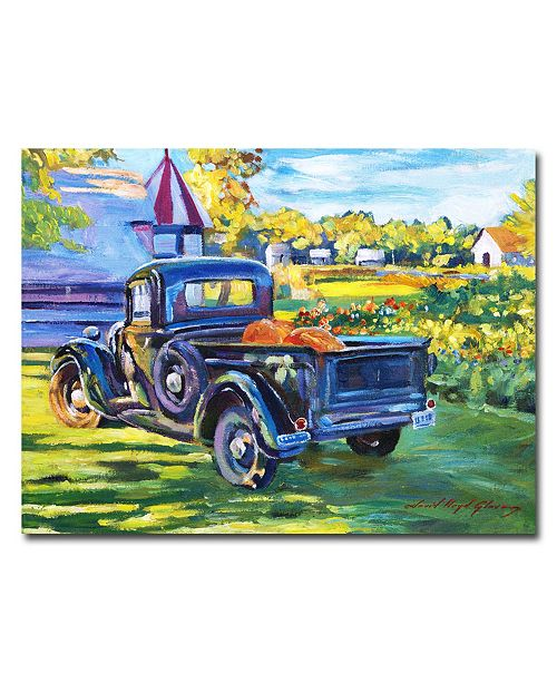 "Trademark Global David Lloyd Glover 'The Pumpkin Pickup' Canvas Art - 32"" x 24"""