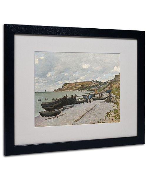 """Trademark Global Claude Monet 'Sainte-Adresse 1867' Matted Framed Art - 20"""" x 16"""""""