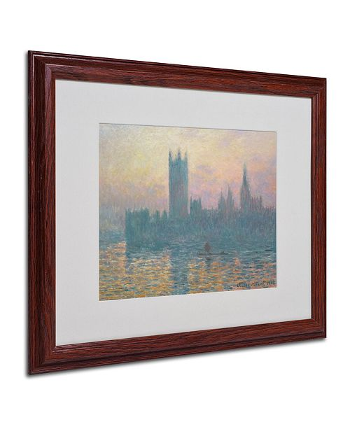 "Trademark Global Claude Monet 'The Houses of Parliament' Matted Framed Art - 20"" x 16"""