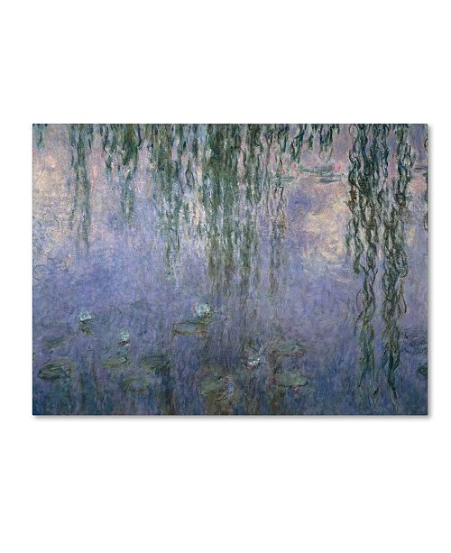 "Trademark Global Claude Monet 'Water Lilies III 1840-1926' Canvas Art - 14"" x 19"""