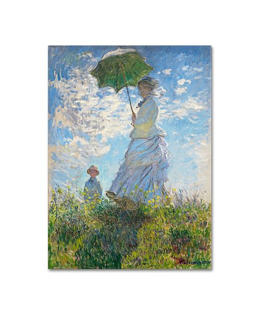 "Trademark Global Claude Monet 'Woman With a Parasol 1875' Canvas Art - 24"" x 18"""