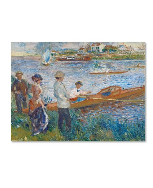 "Trademark Global Pierre Auguste Renoir 'Oarsmen at Chatou 1879' Canvas Art - 14"" x 19"""
