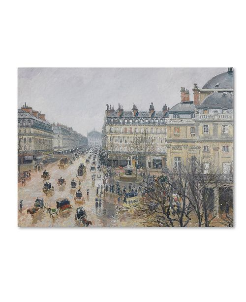 "Trademark Global Camille Pissarro 'Place du Theatre Francais 1898' Canvas Art - 32"" x 24"""