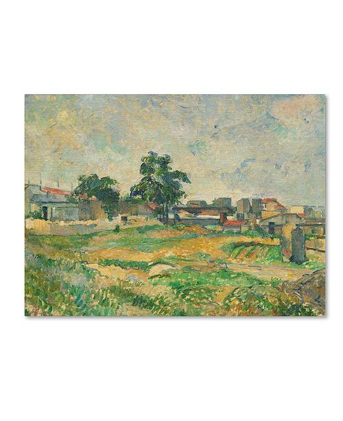 "Trademark Global Paul Cezanne 'Landscape Near Paris 1876' Canvas Art - 32"" x 24"""