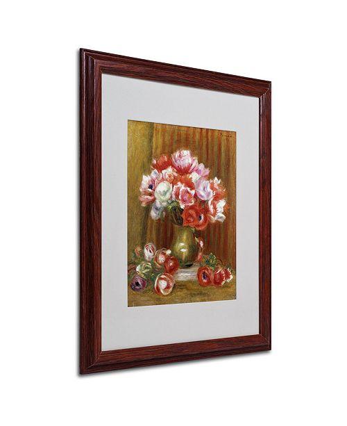 "Trademark Global Pierre Auguste Renoir 'Anemones 1909' Matted Framed Art - 20"" x 16"""