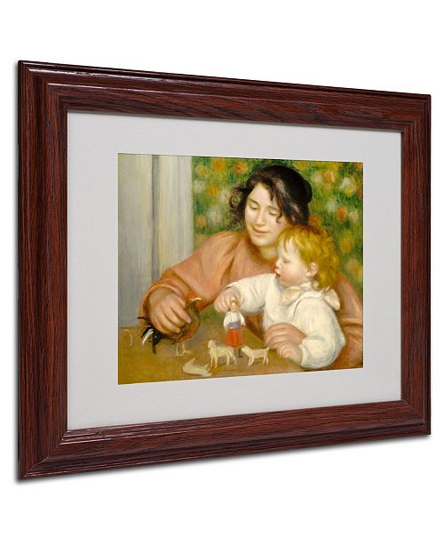 "Trademark Global Pierre Auguste Renoir 'Child With Toys 1895-96' Matted Framed Art - 14"" x 11"""