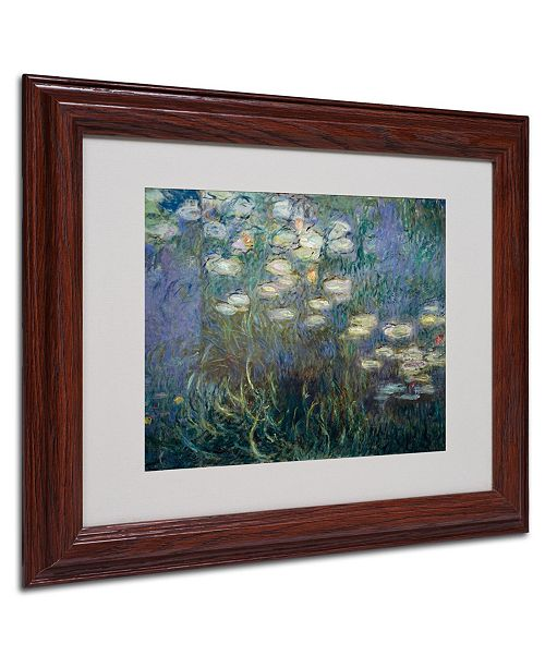 "Trademark Global Claude Monet 'Water Lilies 1840-1926' Matted Framed Art - 14"" x 11"""