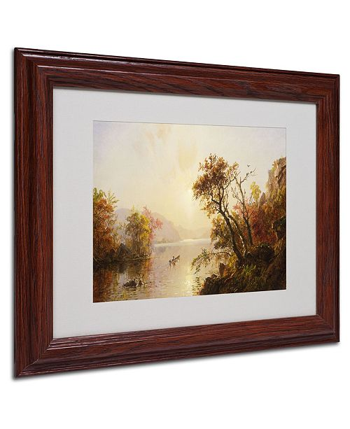 "Trademark Global Jasper Cropsey 'Rowing Out of a Cove 1878' Matted Framed Art - 14"" x 11"""
