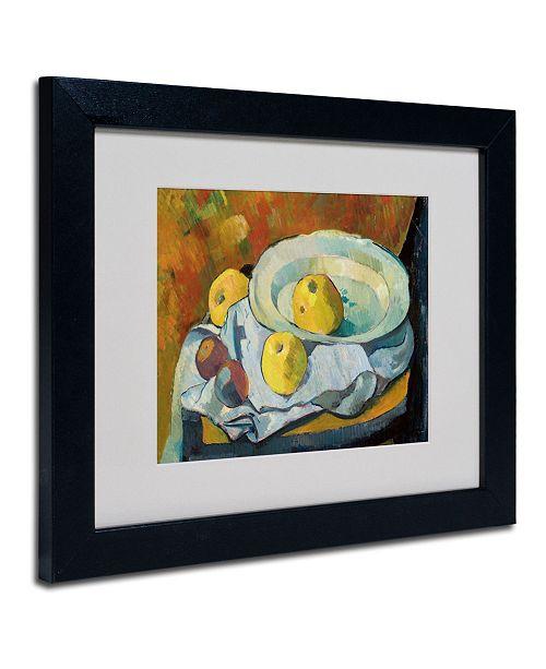 "Trademark Global Paul Serusier 'Plate of Apples 1891' Matted Framed Art - 14"" x 11"""