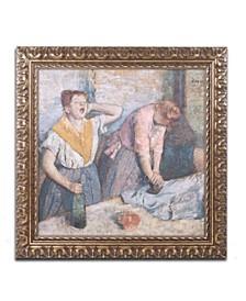 """Edgar Degas 'The Laundresses 1884' Ornate Framed Art - 11"""" x 11"""""""