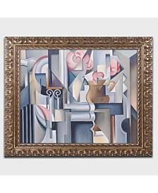 "Catherine Abel 'Still Life with Brown Jug' Ornate Framed Art - 14"" x 11"""