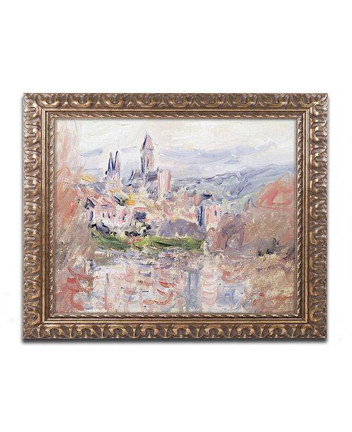 """Trademark Global Monet 'The Village of Vetheuil' Ornate Framed Art - 16"""" x 20"""""""