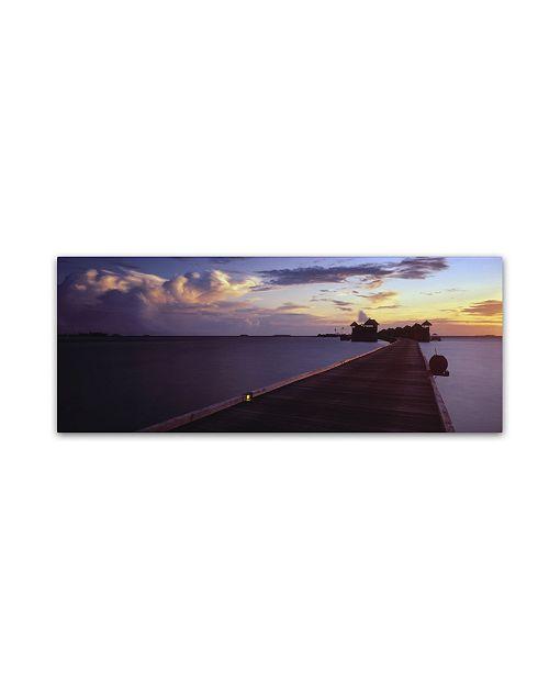 "Trademark Global David Evans 'Cumulus Energy-Maldives' Canvas Art - 16"" x 47"""