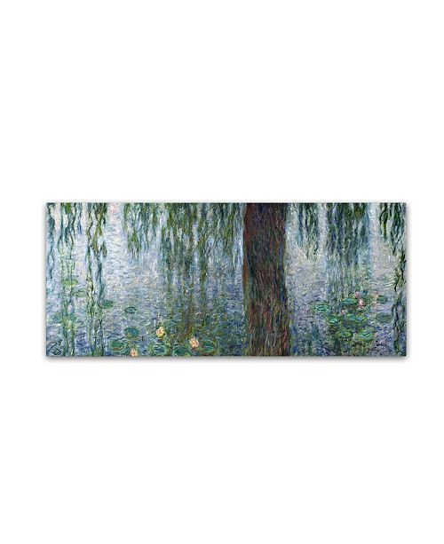 "Trademark Global Claude Monet 'waterlilies Morning' Canvas Art - 12"" x 28"""