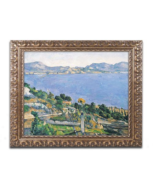 "Trademark Global Paul Cezanne 'The Little Bridge 1879' Ornate Framed Art - 11"" x 14"""