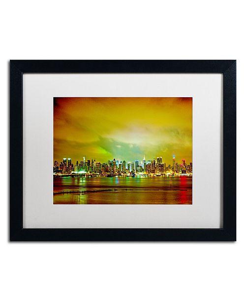 "Trademark Global Preston 'City Skyline' Matted Framed Art - 16"" x 20"""
