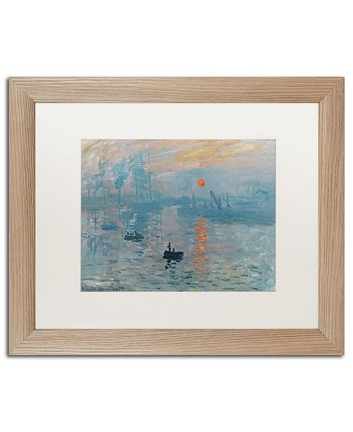 "Trademark Global Claude Monet 'Impression Sunrise' Matted Framed Art - 16"" x 20"""