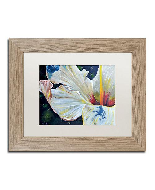 "Trademark Global Jennifer Redstreake 'Hibiscus' Matted Framed Art - 11"" x 14"""