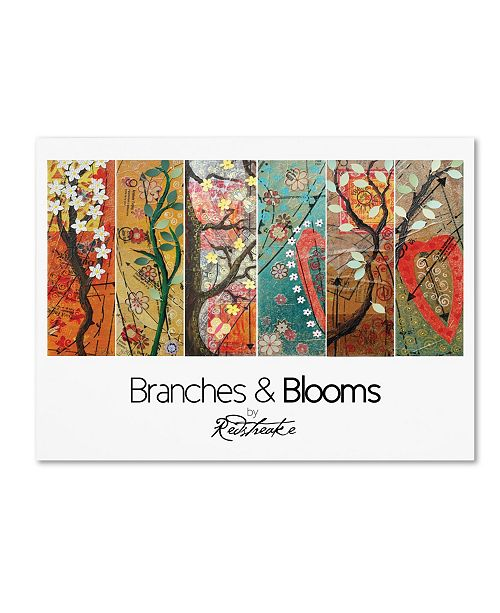 """Trademark Global Jennifer Redstreake 'Pattern Collage Branches and Blooms' Canvas Art - 14"""" x 19"""""""