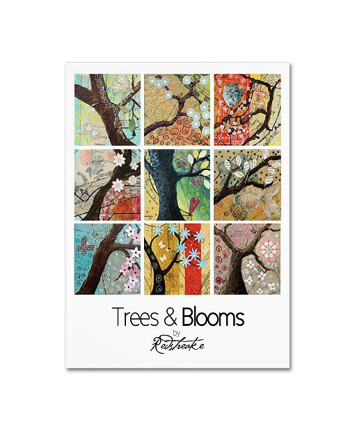 """Trademark Global Jennifer Redstreake 'Pattern Collage Trees and Blooms' Canvas Art - 14"""" x 19"""""""