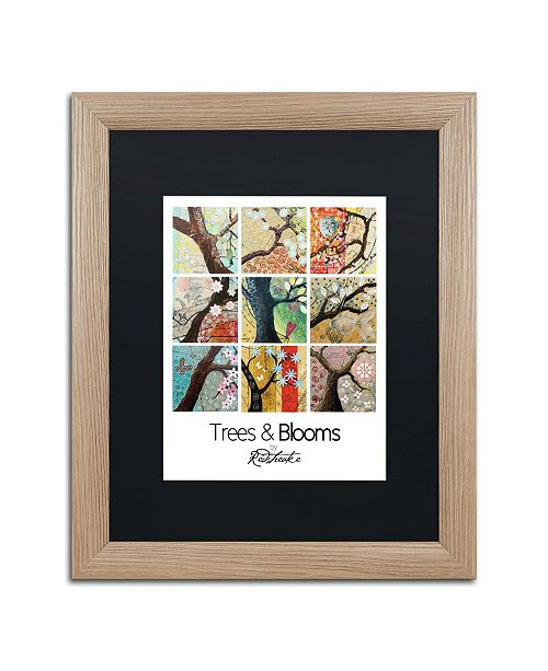 "Trademark Global Jennifer Redstreake 'Trees and Blooms' Matted Framed Art - 16"" x 20"""