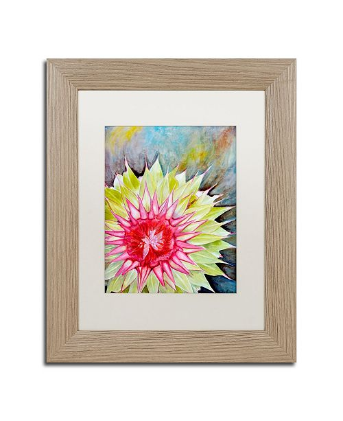 "Trademark Global Jennifer Redstreake 'Thistle' Matted Framed Art - 11"" x 14"""