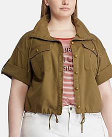 Lauren Ralph Lauren Plus Size Canvas Drawcord Jacket