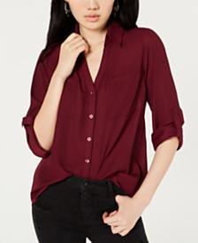 BCX Juniors' Button-Up Utility Shirt