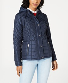 Sebby Juniors' Water-Resistant Hooded Quilted Coat