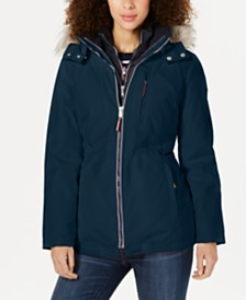 Tommy Hilfiger Faux-Fur-Trim Hooded Parka Coat