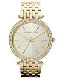 Michael Kors Women's Darci Gold-Tone Stainless Steel Bracelet Watch 39mm MK3191