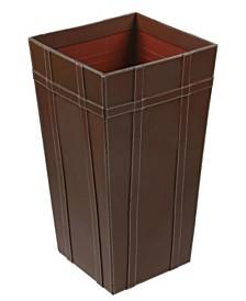 "St. Croix KINDWER Tall 22"" Leather Basket"