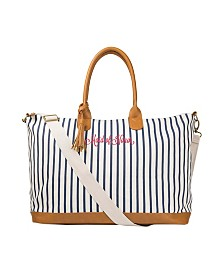 Cathy's Concepts Maid Of Honor Pinstriped Weekender