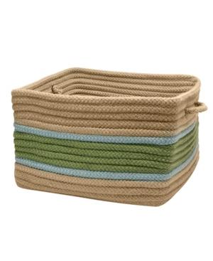 Garden Banded Square Braided Storage Basket