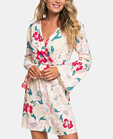 Roxy Juniors' Printed Bell-Sleeve Dress